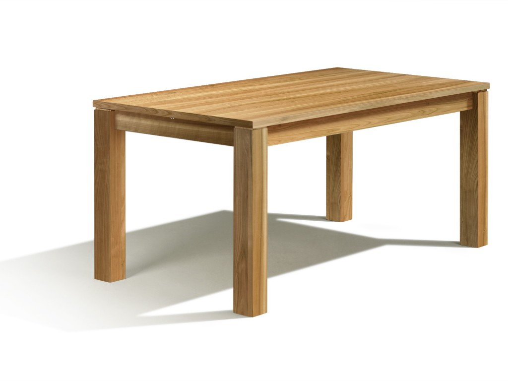 ausziehbarer esstisch nach mass in kirschbaum mit auszug 50cm bei 160cm x 90cm erstklassige. Black Bedroom Furniture Sets. Home Design Ideas