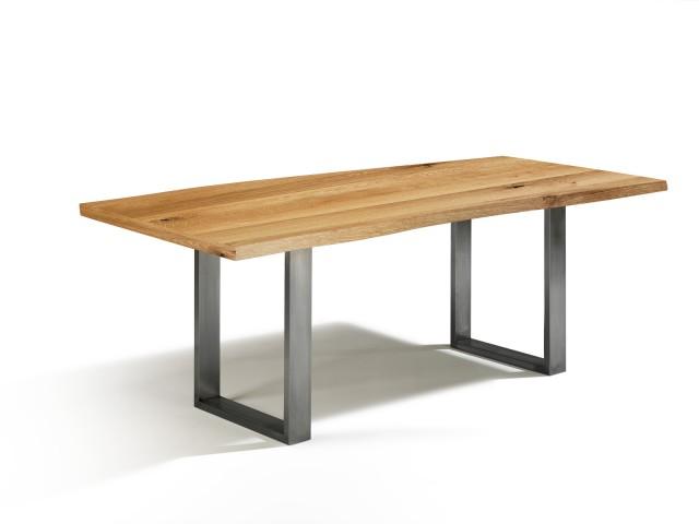 g nstig esstisch asteiche mit baumkantenoptik massivholz in 140cm x 80cm. Black Bedroom Furniture Sets. Home Design Ideas