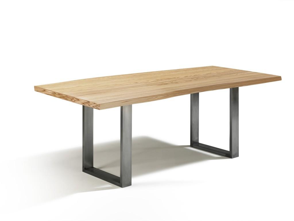 Holztisch mit edelstahlf en talca design esstisch in for Design esstisch 140
