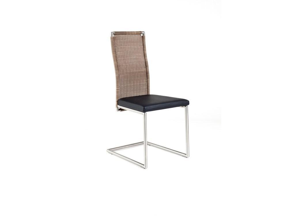 freischwinger stuhl kallern mit ergonomischer r ckenlehne aus rattan. Black Bedroom Furniture Sets. Home Design Ideas