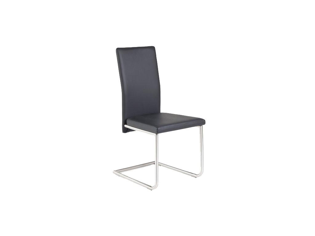komfortabler freischwinger aus leder mit oder ohne armlehnen. Black Bedroom Furniture Sets. Home Design Ideas