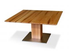Esstisch Quadratisch Ausziehbar säulentische rund oder eckig mit glas oder holzplatte esstische de