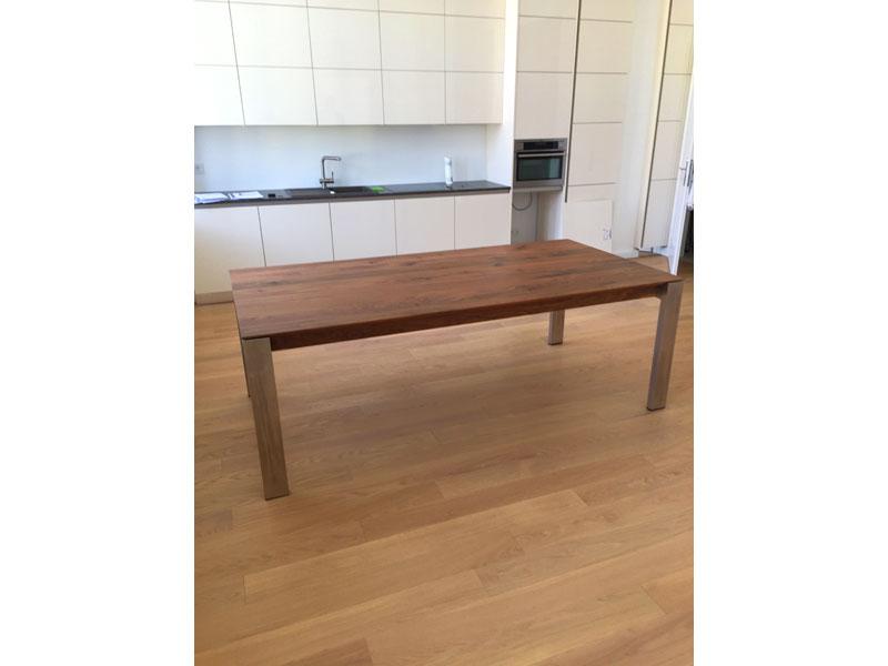 massivholztisch amalfi mit gestell aus alu oder edelstahl. Black Bedroom Furniture Sets. Home Design Ideas