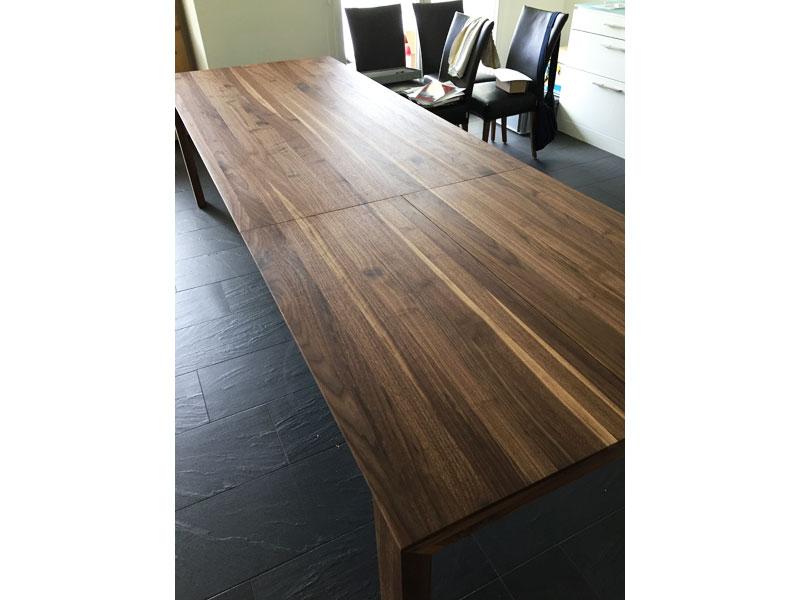 Massivholztisch amalfi mit gestell aus alu oder edelstahl for Esstisch 320
