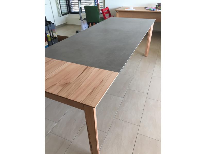 esstisch 3 meter ausziehbar elegant industrial tisch. Black Bedroom Furniture Sets. Home Design Ideas