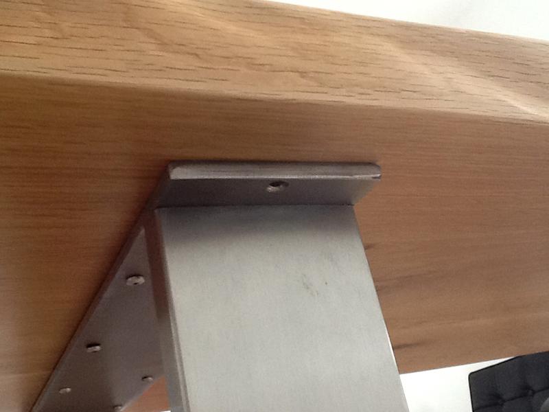 Esstisch Asteiche ~ NEU Baumkante Tisch mit Edelstahlfüßen  Talca  Esstisch Erle in 140cm x 80cm